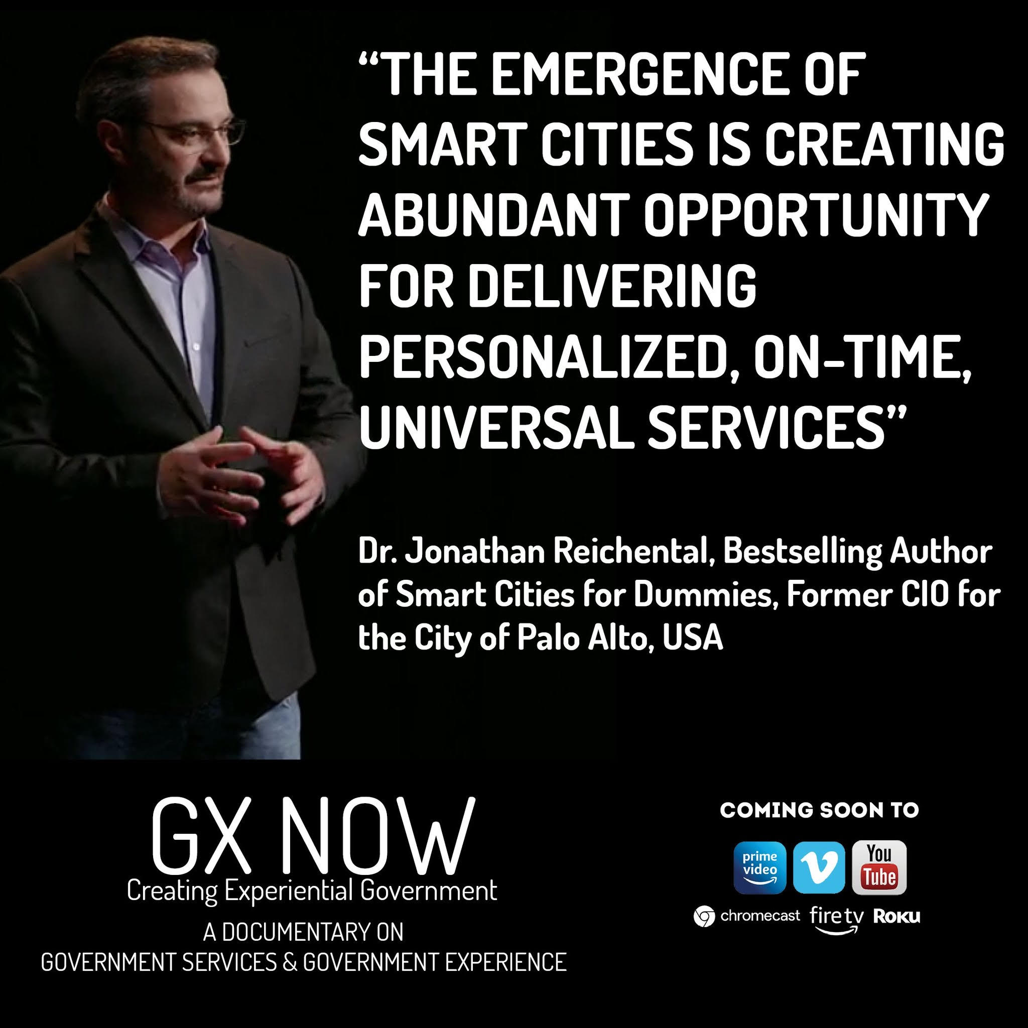 GX Now, an Amazon Prime Documentary Featuring Dr. Jonathan Reichental