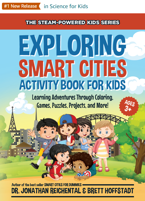 PRESS RELEASE: Just in time for back to school, the world's first kid's activity book about smart cities is now available